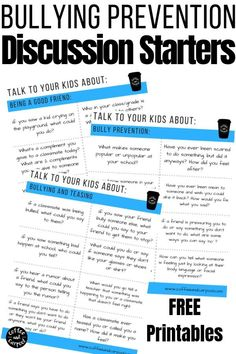 These bullying prevention activities are perfect to start hard discussions with our kids about how they can help prevent bullying. Bullying Lessons, Stop Bullying, Anti Bullying Activities, Primary Activities, Kindness Activities, Bullying Prevention, School Counselor, Social Skills, Teaching Kids