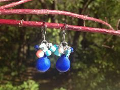 Beaded Teardrop Earring by AnnMadeinMinnesota on Etsy