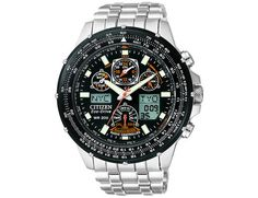 Mens Citizen Eco Drive Skyhawk A.T Flight Chronograph Watch in Stainless Steel (JY0000-53E)
