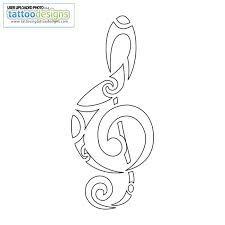 Treble clef design - Hawaiian