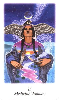Medicine Woman (The High Priestess) - Vision Quest Tarot