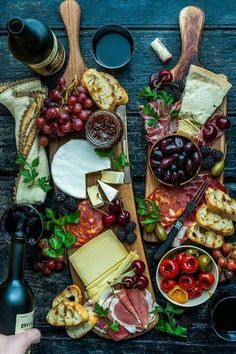 Cheese + fruit + more. Cheese + fruit + more. Plateau Charcuterie, Charcuterie And Cheese Board, Charcuterie Platter, Cheese Boards, Antipasto Platter, Meat Platter, Cheese Board Display, Crudite Platter Ideas, Grazing Platter Ideas