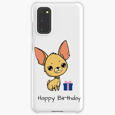 """""""Happy Birthday Chihuahua """" Case & Skin for Samsung Galaxy by jakezbontar   Redbubble Samsung Cases, Samsung Galaxy, Phone Cases, Happy Birthday Chihuahua, Great Birthday Gifts, Protective Cases, Finding Yourself, Phone Case"""