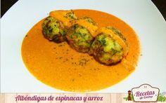 Albóndigas de espinacas y arroz - http://www.lasrecetascocina.com/2014/10/10/albondigas-de-espinacas-y-arroz/…