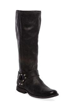 Frye Phillip Harness Tall in Black. Welcome to my closet!