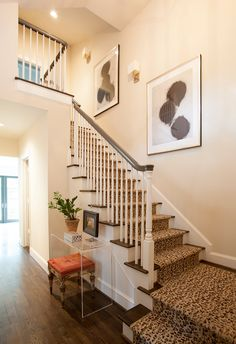 leopard stair runner and railing