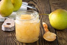 Chef Athan shares a pear Jam Recipe that is sweet, tart, and easy to make. A decorated jar of homemade jam is a thoughtful way to show your appreciation this fall. Chutney Recipes, Jam Recipes, Canning Recipes, Dessert Recipes, Pear Sauce, Pear Butter, Fermentation Recipes, Spiced Apples, Healthy Recipes