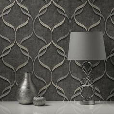 The latest addition the popular Milano range by Fine Decor comes this fantastic wave wallpaper Featuring an on-trend wave pattern finished in a subtle metallic tone on a hessian weave style background A heavyweight Italian wallpaper sure to add a touch of elegance to your room #wallpaperdepot #wallpaper #interior #interiordecor #interiordesign #diy #renovation #walldecor #wallart #bedroom #livingroom #kitchen #bathroom #home #homedecor #geometric #milano Wallpaper Online, Wallpaper Samples, Vinyl Wallpaper, Charcoal Wallpaper, Waves Wallpaper, Geometric Decor, Pattern Matching, High Quality Wallpapers, Wave Pattern