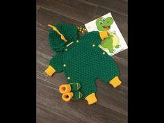 Crochet Romper, Knit Baby Dress, Crochet Clothes, Crochet Baby, Baby Knitting Patterns, Baby Patterns, Crochet Patterns, Knitting Videos, Crochet Videos