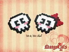 Valentine's day Mr & Mrs skull bead sprites by MangoCats on Etsy, $9.00