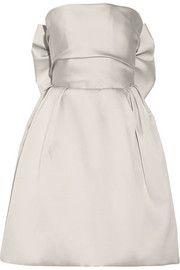 Bow-embellished duchesse-satin dress