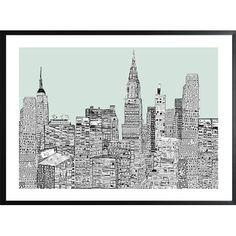 Poster - Diese Bild ist für New York Fans ein Muss und gefällt durch sein schönes Design. - ab 39,00€