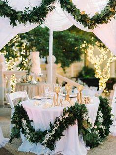 Glamorous tented reception…