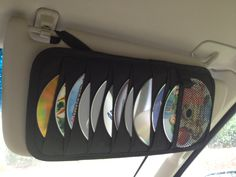 great for road trips....old CD car visor for  kids DVD's :)