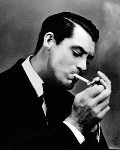 Cary Grant: smokin' (Incidentally, I detest cigarettes, but he just looks so debonair.)