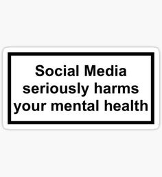 Social media stickers Social media damages your mental health considerably . - Social Media Stickers Social Media Significantly Damages Your Mental Health – New Ideas – - Bubble Stickers, Phone Stickers, Cool Stickers, Printable Stickers, Collage Poster, Capas Iphone 6, Aesthetic Phone Case, Aesthetic Stickers, Aesthetic Iphone Wallpaper