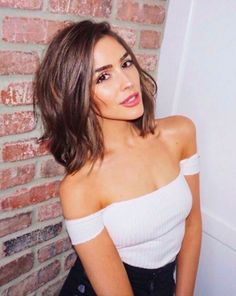 Olivia Culpo lopped off her uber long brunette locks to debut her new shaggy bob on Instagram. *immediately takes pic to hairdressers*