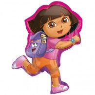 Our Dora the Explorer Balloon is the ultimate party balloon! This shaped balloon resembles Dora, featuring her signature pink and orange outfit complete with pals Backpack and The Map. It's the perfect addition to your Dora the Explorer party decorations! Party City Balloons, Disney Balloons, Wedding Balloons, Helium Balloons, Birthday Balloons, Wholesale Party Supplies, Kids Party Supplies, Wholesale Balloons, Dora The Explorer