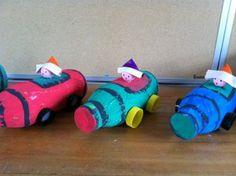 Auto's maken uit lege plastieke flessen http://www.jufkelly.me/thema/verkeer/beeldende-opvoeding/