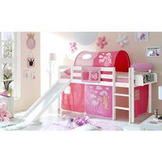TiCAA Glijbaanbed Manuel Grenen wit Horse (Pink) pinkorblue.nl ♥ Ruim 40.000 producten online ♥ Nu eenvoudig online shoppen!