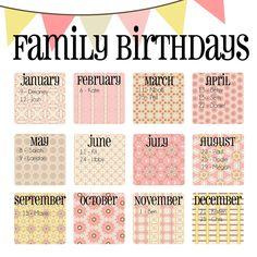 Paper Bag Perpetual Birthday Calendar  Papercrafts