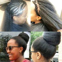 Kinky coarse texture will blend very well with your own hair???? #kinky#coarse#yaki#italianyaki#mimicafricanamerican#forblackwomen#hair#fashion#bun#pin