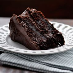 Moist Chocolate Cake...the easiest, richest cake ever...has coffee in it, too :)