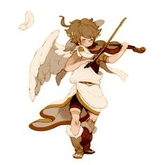 Pit plating the violin. Icarus Game, Chibi, Kid Icarus Uprising, Classic Video Games, Nintendo Characters, Cute Games, Video Game Art, Super Smash Bros, Fire Emblem