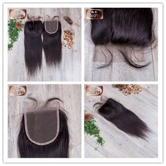 A Grade Virgin Human Hair Straight Lace Closure Freestyle,Middle Part,3 Part 4x4 inches, 120% Density, Natural Baby Hair, Swiss Lace, Medium Brown Lace Color, Bleached Knots WhatsApp number : +86-18661655527 Email:sales4@bolinhair.com