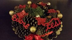 ghirlanda natalizia centrotavola di MalibuBabyHandmade su Etsy
