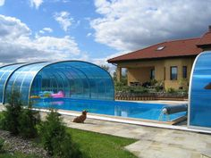 We have got several color optional of our polycarbonate panels of swimming pool enclosure LAGUNA