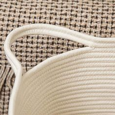Rope Laundry Bag   Dunelm White Laundry Basket, Wishbone Chair, Espadrilles, Bags, Espadrilles Outfit, Handbags, Bag, Totes, Hand Bags