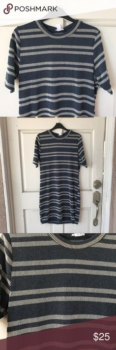 "BP Blue Striped T-Shirt Dress Brand new with tag! 🎀 About 34"" length. Super cute t-shirt dress fit that can be worn with sandals, sneakers, or boots! Feel free to bundle with my other listings for 10% off! 🦄 bp Dresses"