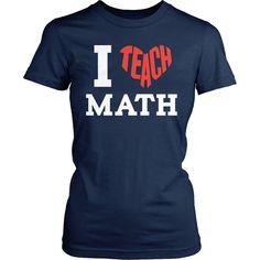 Math - I Teach Math - District Made Womens Shirt / Navy / S - 1