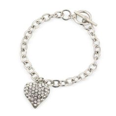 Heart Tiffany Style Bracelet, Heart Diamante/Sparkly Pendant on charm bracelet with T Bar finish Chic Fashion Jewellery. $10.99. As with all Chic Fashion Jewellery products your gift will arrive in a lovely gift bag. Fashion jewelry for women. 100% Nickle and 100% Lead Free to meet and exceed Health & Safety Requirements