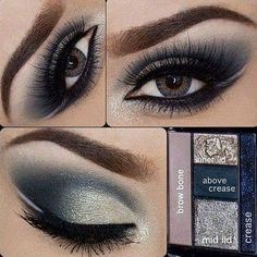 Perfect Detailing Of Color Mix For Different Areas Of Eye Makeup