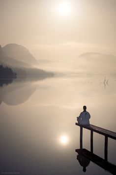 Meditando en la hermosura.