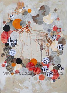 Arte abstracto contemporáneo,collage