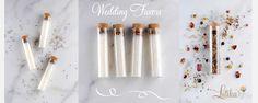 wedding favors bath salts in glass tubes