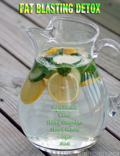 This really works, and I can attest to it because I drank it  on one of my cheat days and still ended up losing 2 lbs.  Not only does it taste good it speeds up your metabolism and burns fat in the process.  Enjoy this recipe, I sure did.  Put as many lemons as you like, I used 3 lemons, 1 whole cucumber, a piece of ginger and a handful of mint leaves in a pitcher of water as the picture illustrates. I let it sit overnight and drank it the next morning and during dinnertime.  It is…