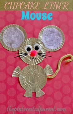 Cupcake Liner Mouse Craft