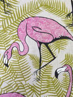 Flamingo Spaß  Rosa Paisley  Polsterstoff  große von ShopMyFabrics