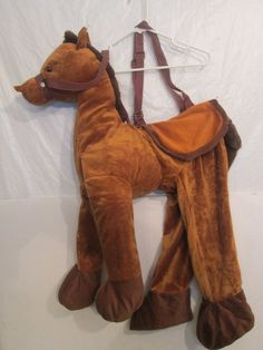 Child's Brown Halloween Costume Plush Horse Pretend Play Dress-up Cowboy 3T-4T #CompleteOutfit