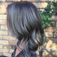 Beautiful grey and silver tones via @emmajaynehd #silverhair #greyhair #hairinspo #hairenvy #TheNAKCollective #NAKhair