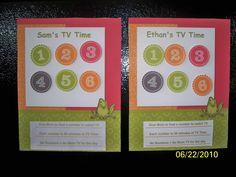 Childrens TV Time Chart. $9.99, via Etsy.