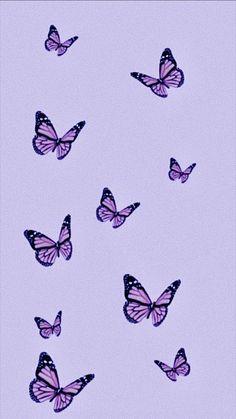 Purple Wallpaper Phone, Purple Butterfly Wallpaper, Phone Wallpaper Images, Iphone Wallpaper Tumblr Aesthetic, Cute Patterns Wallpaper, Iphone Background Wallpaper, Aesthetic Pastel Wallpaper, Aesthetic Wallpapers, Emoji Wallpaper