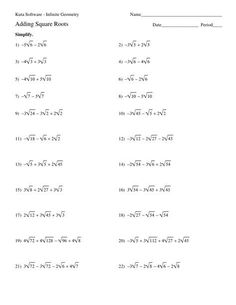 Simplifying Radical Expressions Worksheet Answers Free