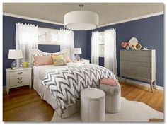 almost my exact color scheme. didn't think I could do navy walls, but I like this color