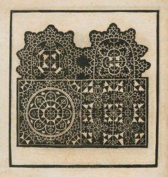 Federico di Vinciolo. New Modelbuch. Straßburg, 1594.