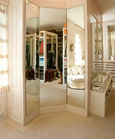 3-way mirror in closet!